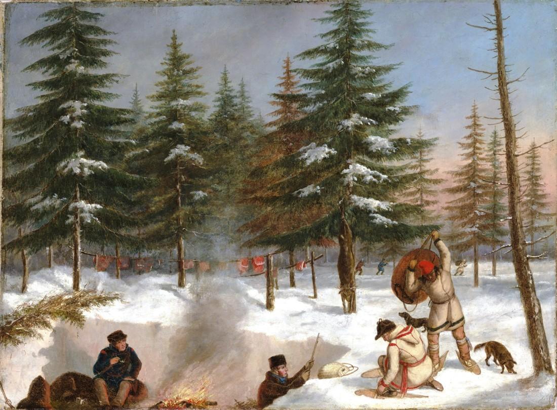 Camp_de_chasse_en_hiver_-_Cornelius_Krieghoff
