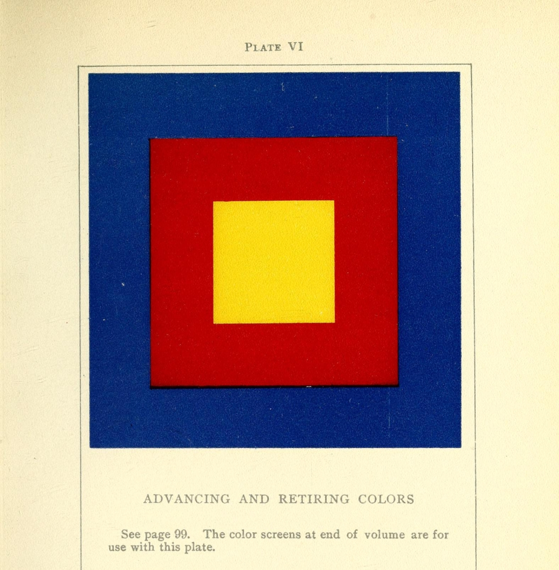 """Advancing and Retiring Colors."" Plate VI. Page 171."