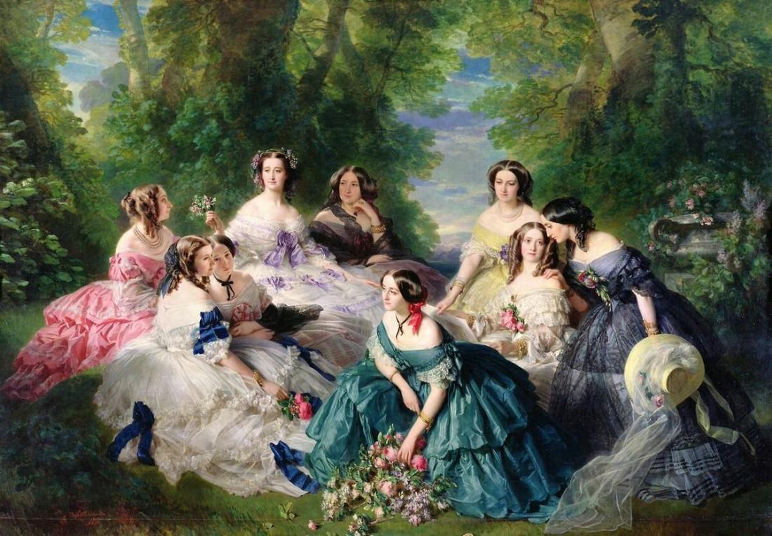 Empress_Eugenie_Ladies_in_Waiting_Winterhalter