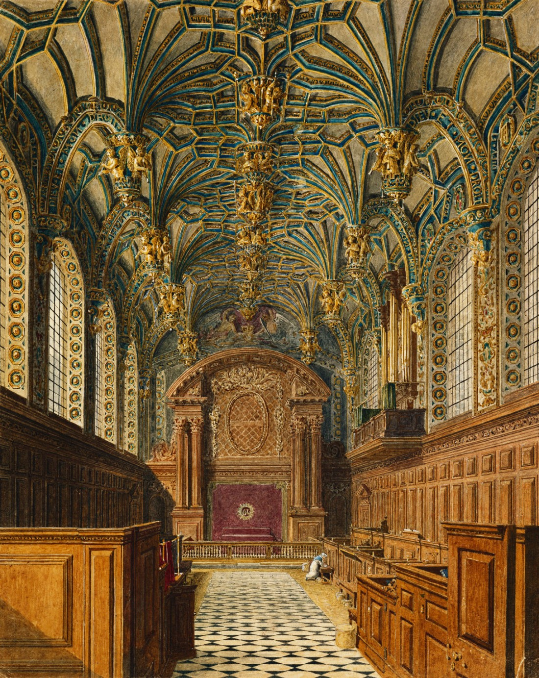 Hampton_Court_Palace,_Chapel,_by_Charles_Wild,_1819_-_royal_coll_922125_313698_ORI_2