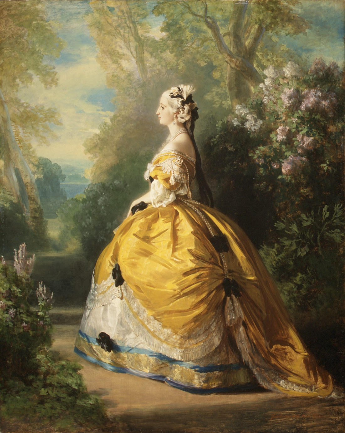 """""""L'impératrice Eugénie à la Marie-Antoinette."""" 1854."""