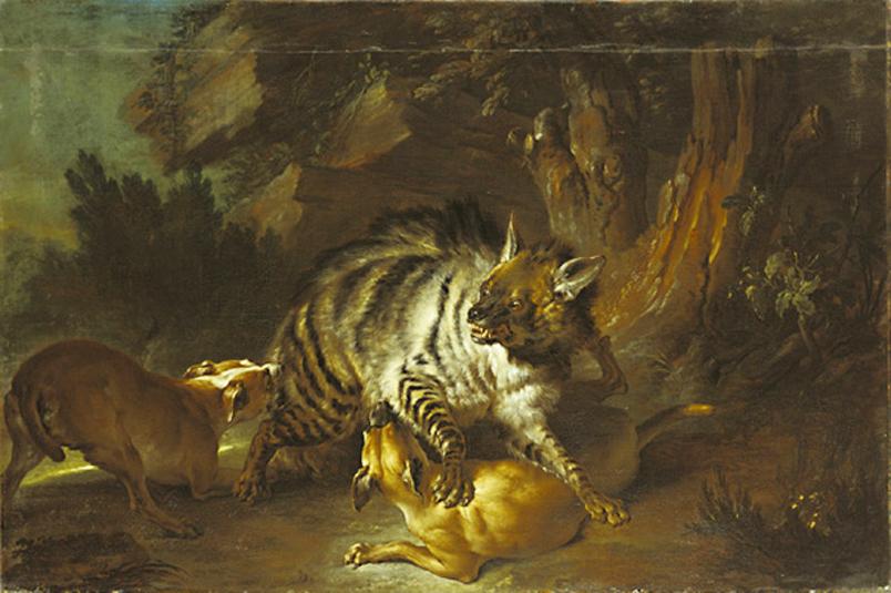 Jean-Baptiste_Oudry_-_Hyena_(1739)