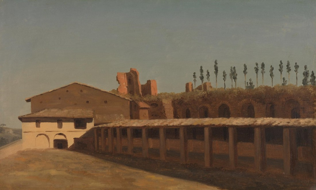 """Cow-Shed and Houses on the Palatine Hill."" ca. 1782-1784."