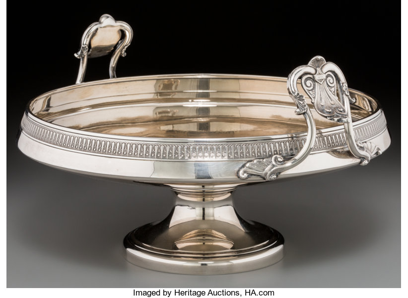 Compote. ca. 1854-1869. Etruscan Revival.