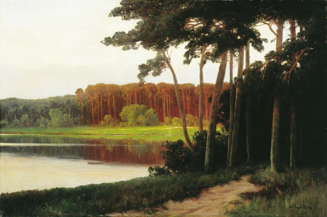 """""""Grunewaldsee oder Schlachtensee."""" 1900. Oil on canvas."""