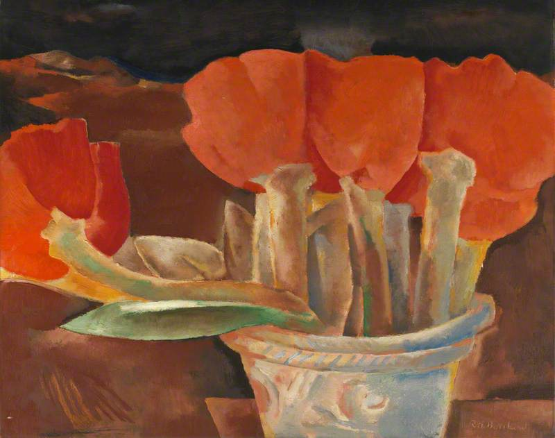 """Still Life with Tulips."" ca. 1925."