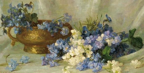 """""""Still Life with Violets."""" 1891. I"""