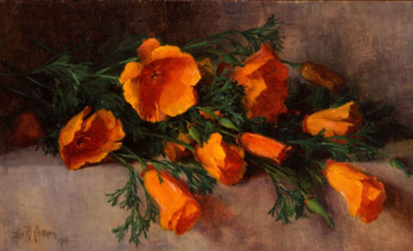 """Still Life with California Poppies.""1902."