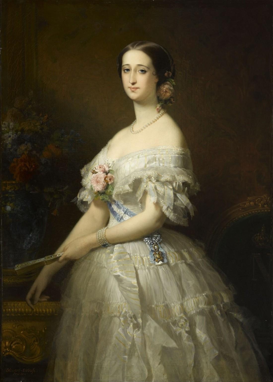 Eugénie de Montijo de Guzman, Empress of the French. 1854.