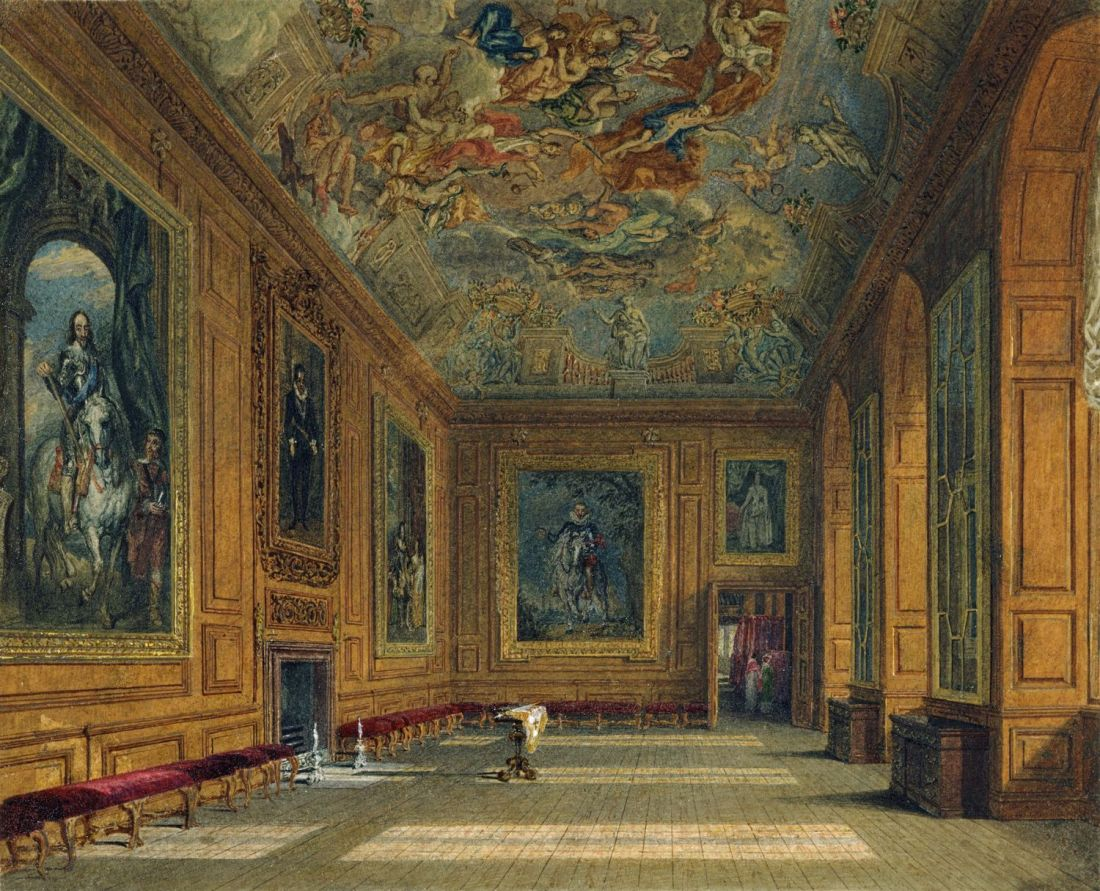 """Queen's Presence Chamber, Windsor Castle."" 1817."