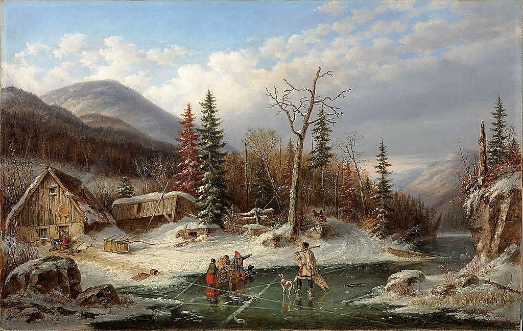 """""""Winter Landscape, Laval."""" 1862."""