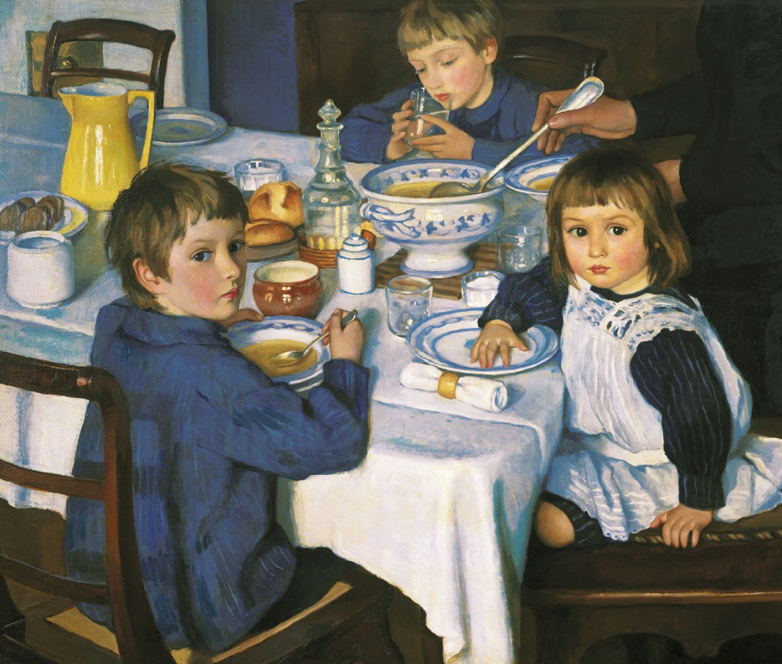 """At Breakfast."" 1914."