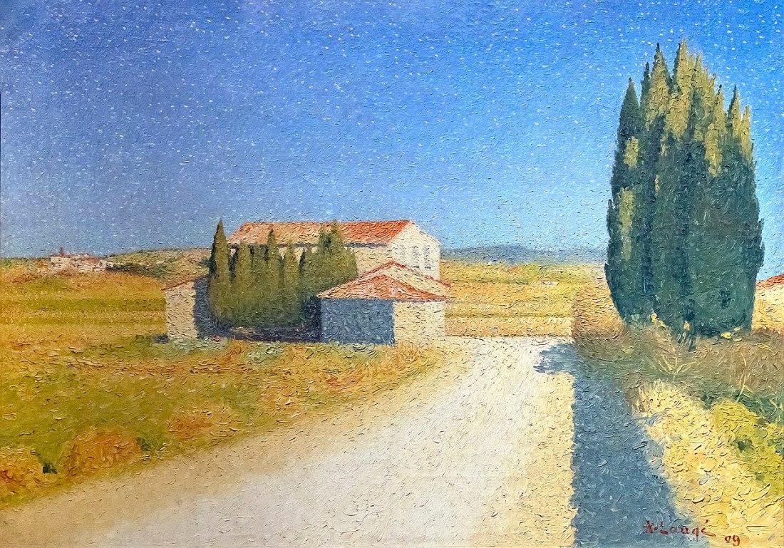 Beaux-Arts de Carcassonne - Le relais 1909 - Achille Laugé 50.8x71.12