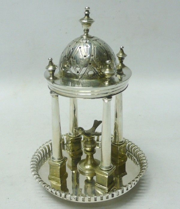 Toothpick holder in the form of a bird cage