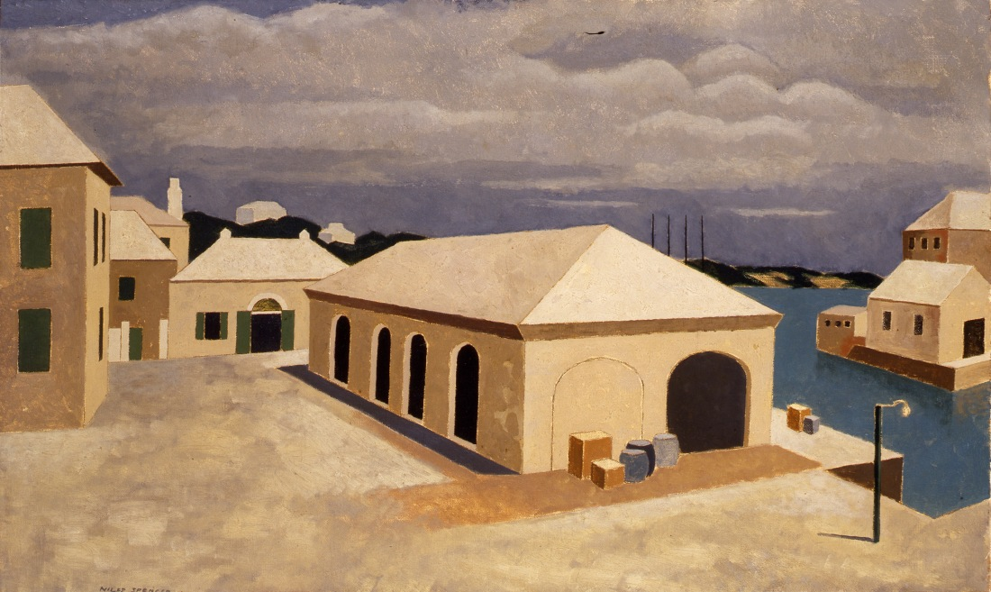 """""""Corporation Shed."""" ca. 1928. Oil on canvas."""