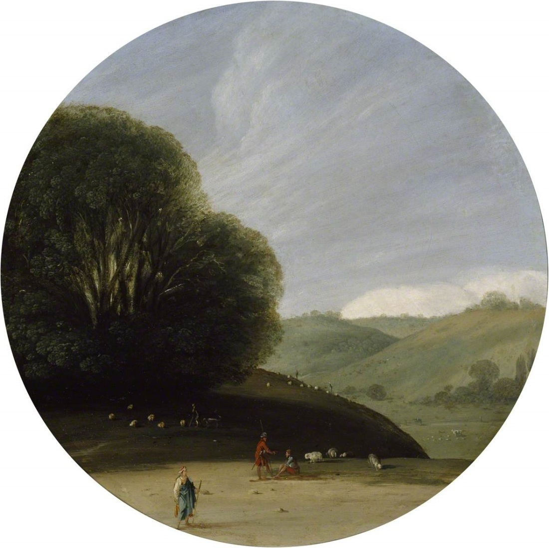 Wals, Goffredo, c.1605-c.1638; Landscape with pastoral Figures