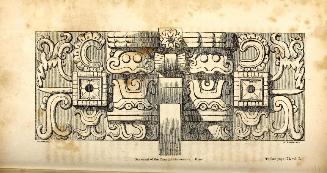 """Ornaments of the Casa del Gobernador, Uxmal."" Page 170."
