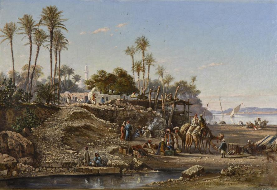 """Campement en Nubie."" 1853."