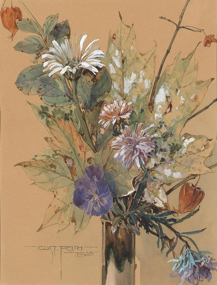 """Late summer flowers."" 1928."