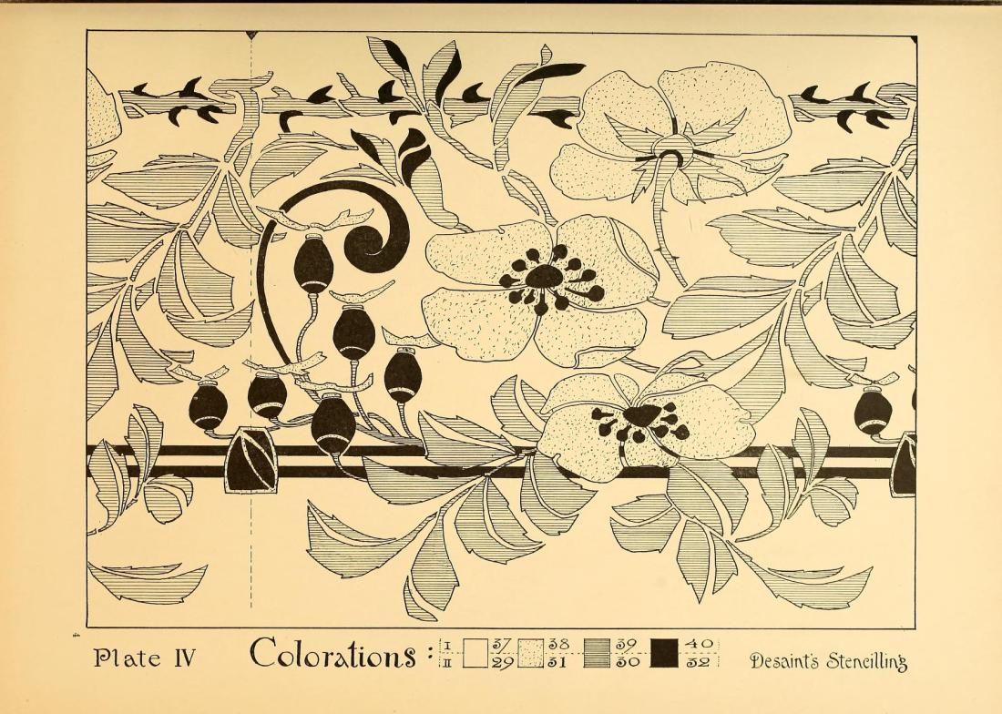 """Colorations."" Plate IV, page 40."