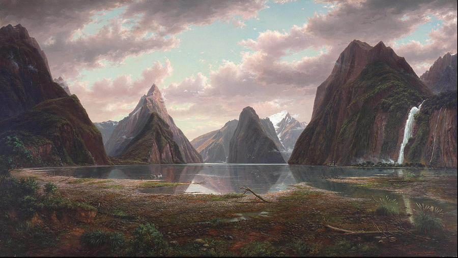 milford-sound-new-zealand-1877-eugene-von-guerard
