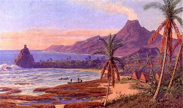 RUDOLF HELLGREWE (1860–1935) Insel Pagan, 1900- MAriana Islands (USA°Dioramaa)