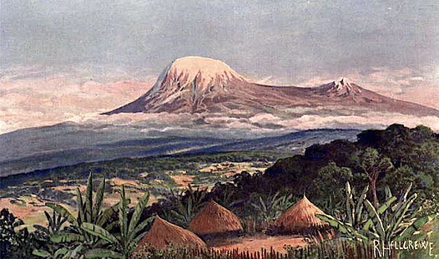 RUDOLF HELLGREWE (1860–1935) - Kilimandjaro from Moschi au