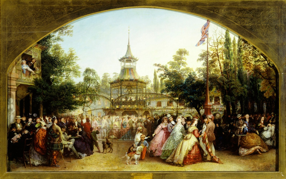 The Dancing Platform at Cremorne Gardens, 1864 by Phoebus Levin