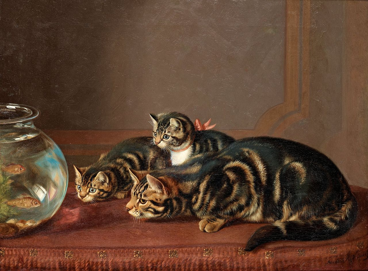 Horatio_Henry_Couldery_-_Cats_by_a_fishbowl