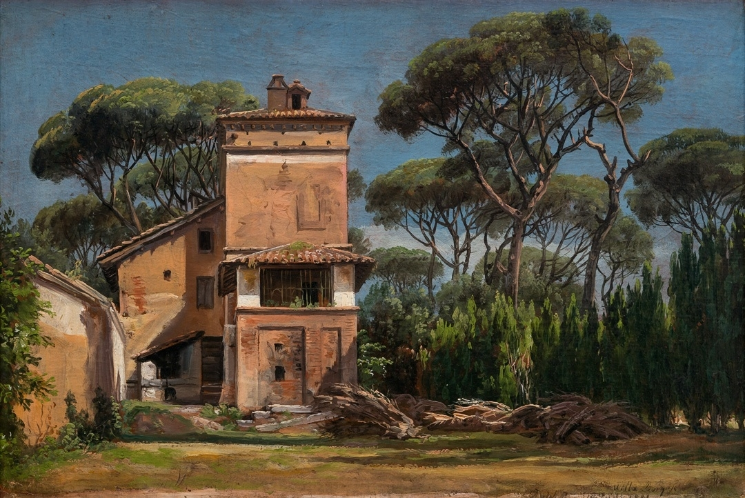 Johan_Christian_Dahl_-_The_Casa_del_Portinaio_in_the_Villa_Borghese_-_Villa_Borghese_-_KODE_Art_Museums_and_Composer_Homes_-_RMS.M.00063