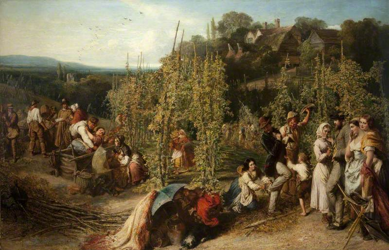 Levin, Phoebus, 1836-1908; Life in the Hop Garden