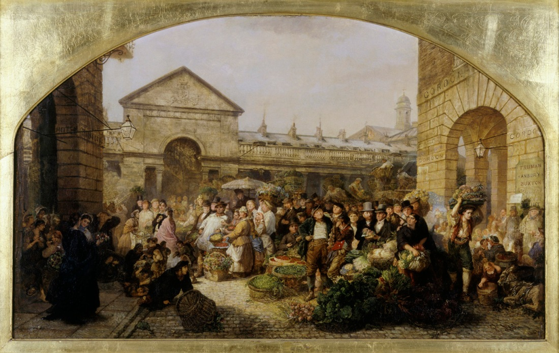 Covent Garden Market 1864 by Phoebus Levin © Museum of London