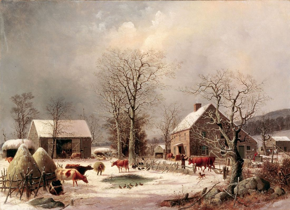 1280px-Farmyard_in_Winter_by_George_Henry_Durrie,_1858