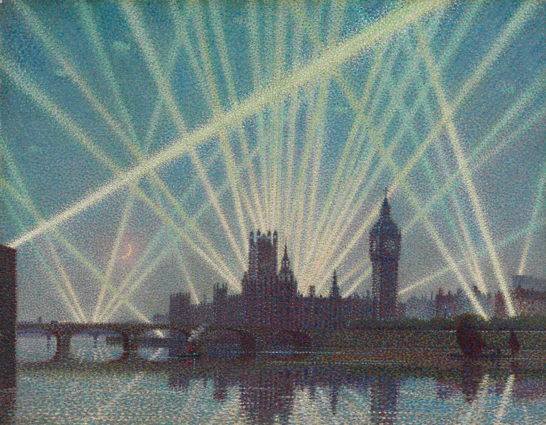 2016_CKS_12225_0033_000(sir_claude_francis_barry_houses_of_parliament_-_a_wartime_nocturne)