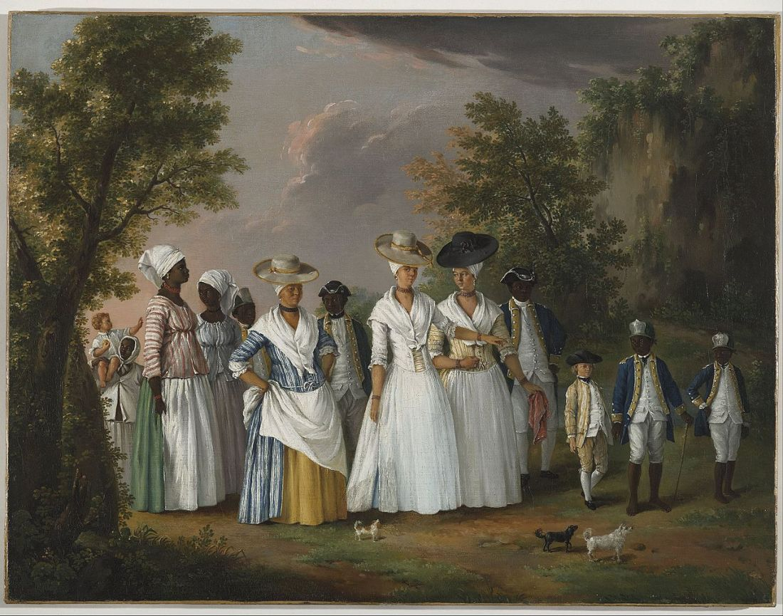 Agostino_Brunias_-_Free_Women_of_Color_with_their_Children_and_Servants_in_a_Landscape_-_Google_Art_Project