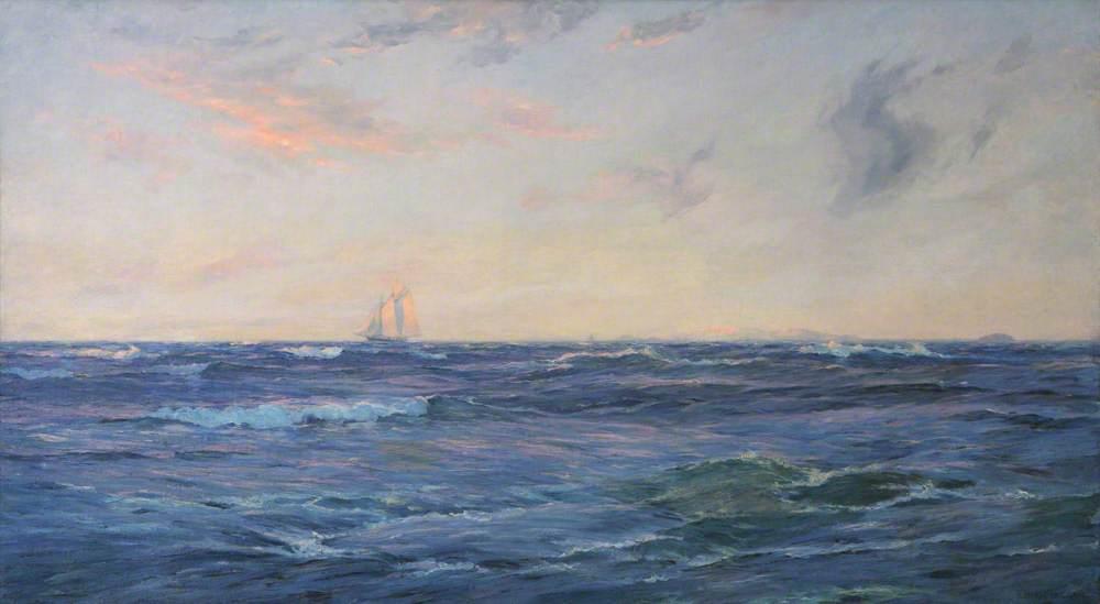 Ingram, William Ayerst, 1855-1913; Schooner on the High Seas