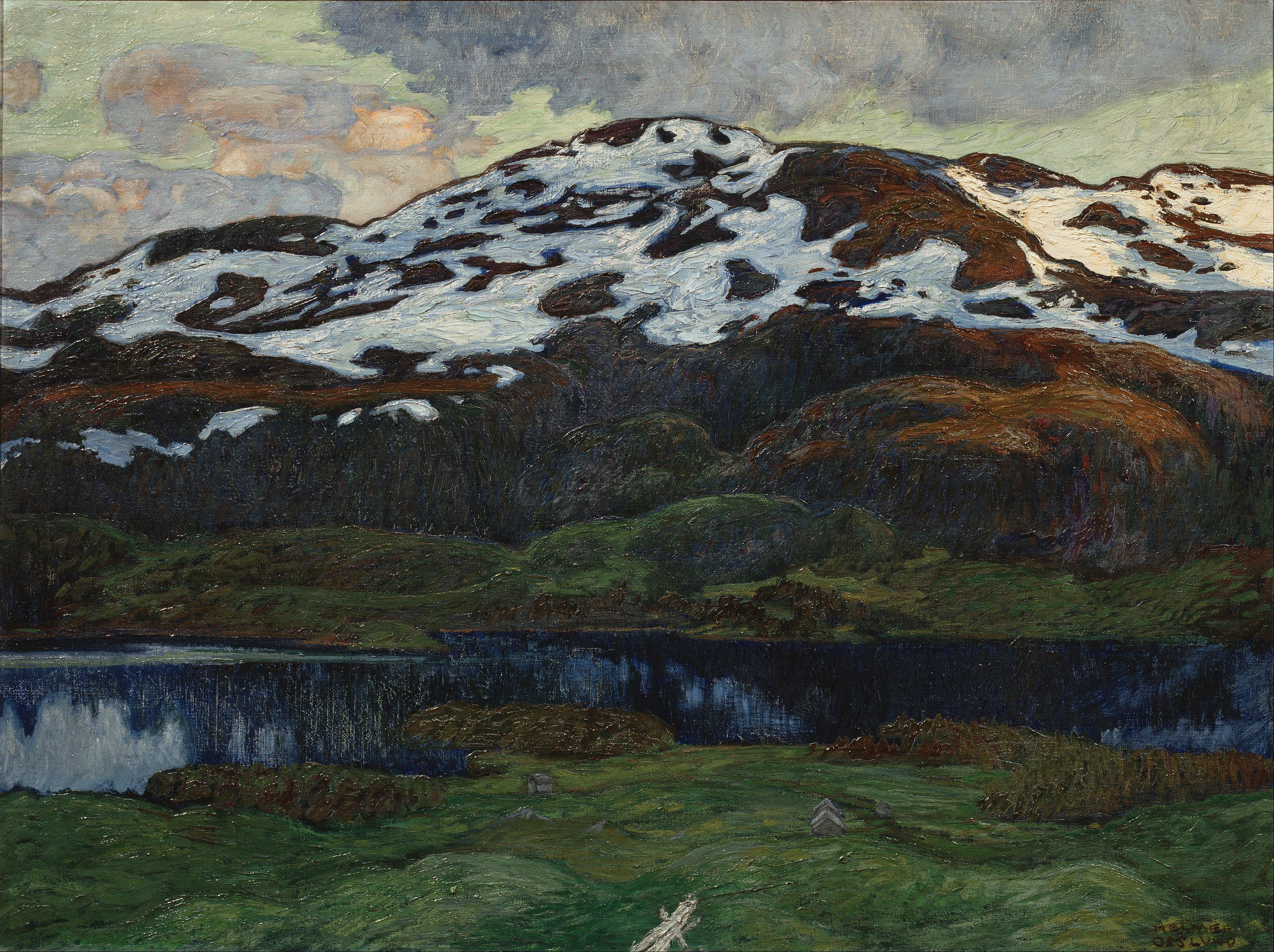 Helmer_Osslund_-_A_Summer_Evening_by_Kallsjön_-_Google_Art_Project