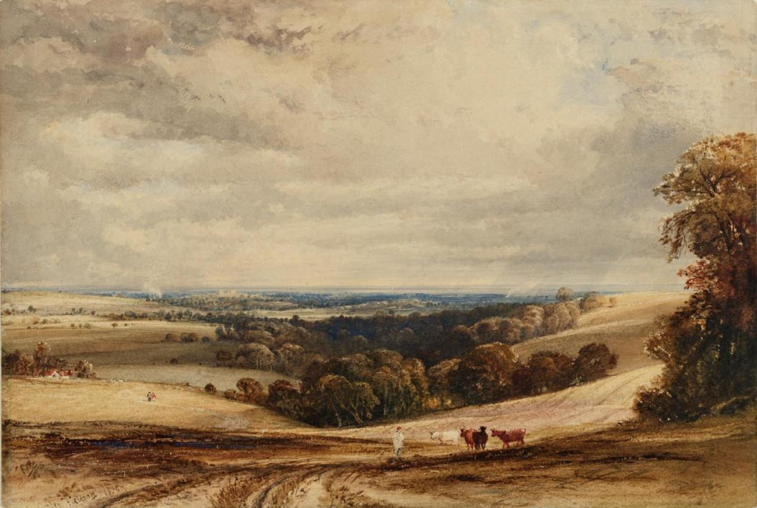 A View in Sussex 1834 by Anthony Vandyke Copley Fielding 1787-1855