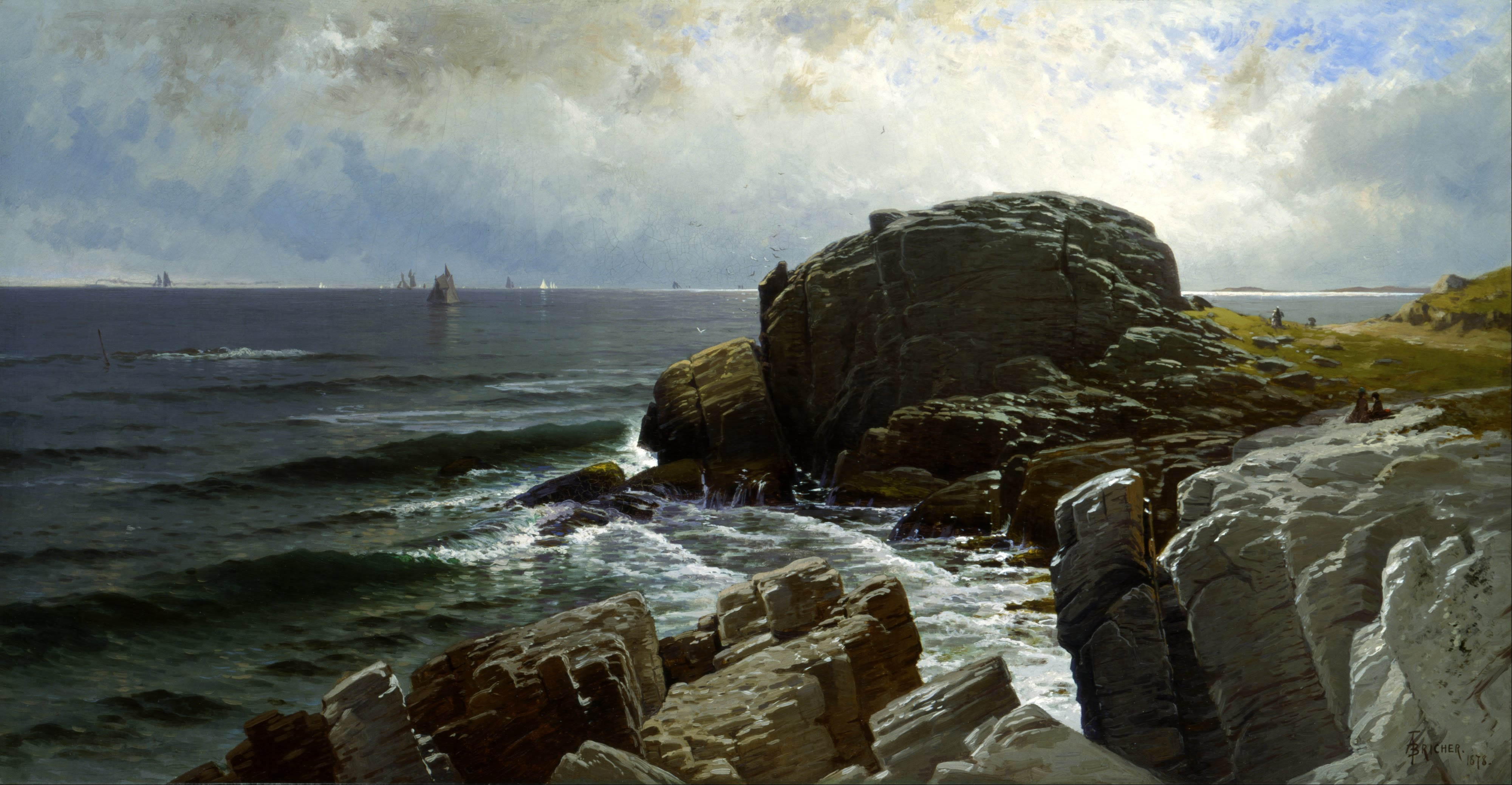 Alfred_Thompson_Bricher_-_Castle_Rock,_Marblehead_-_Google_Art_Project