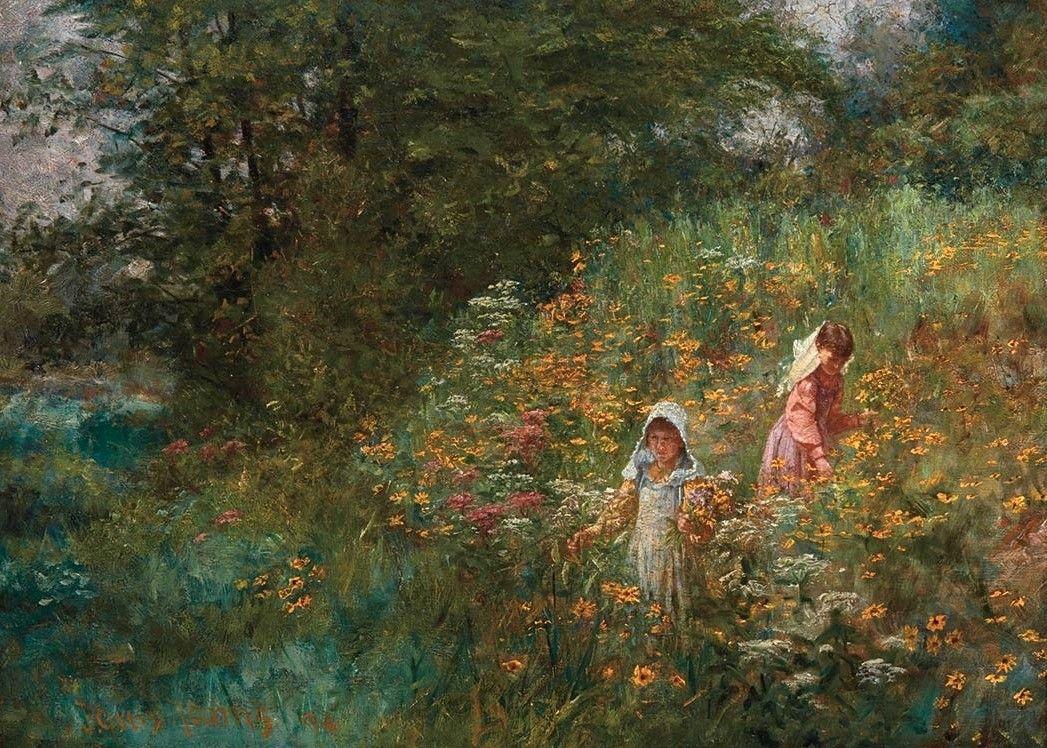 Black-Eyed-Susans-John-Ottis-Adams-Oil-Painting