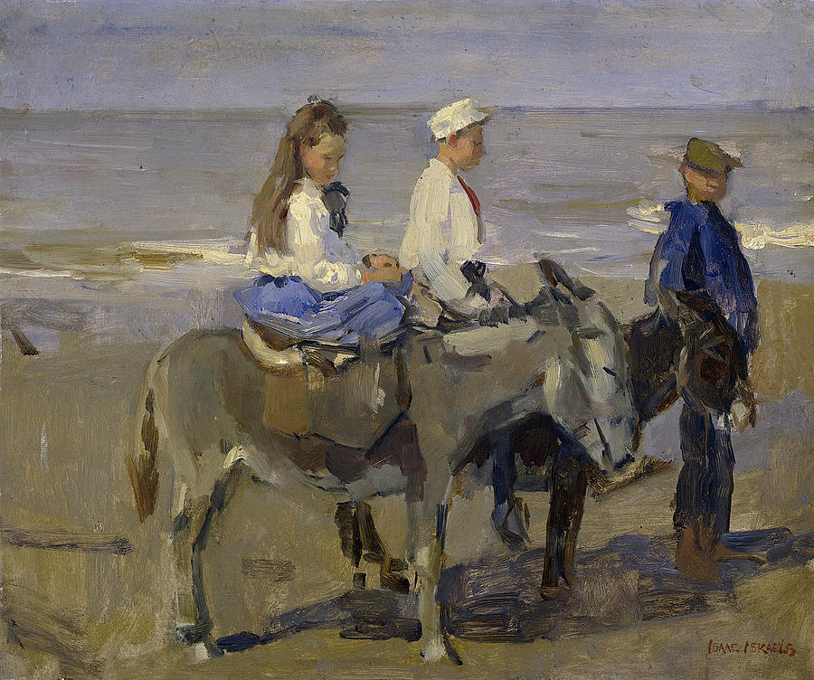 boy-and-girl-riding-donkeys-isaac-israels