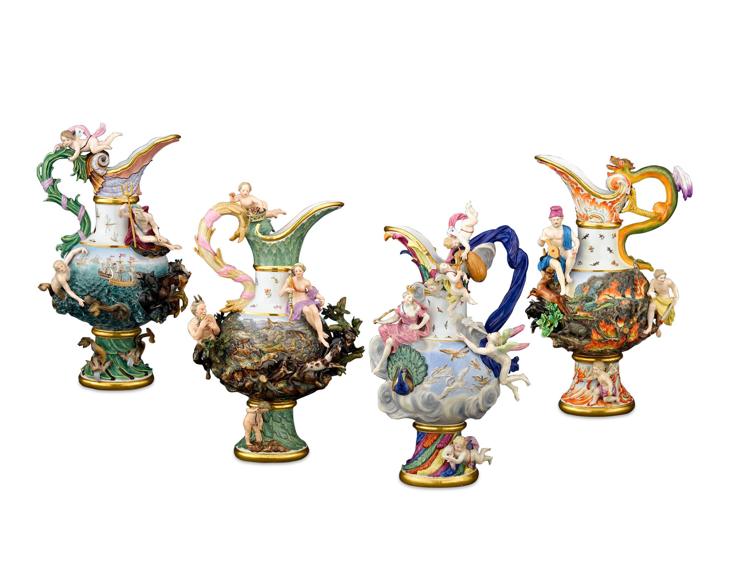 Four_Elements_Porcelain_Ewers_by_Meissen