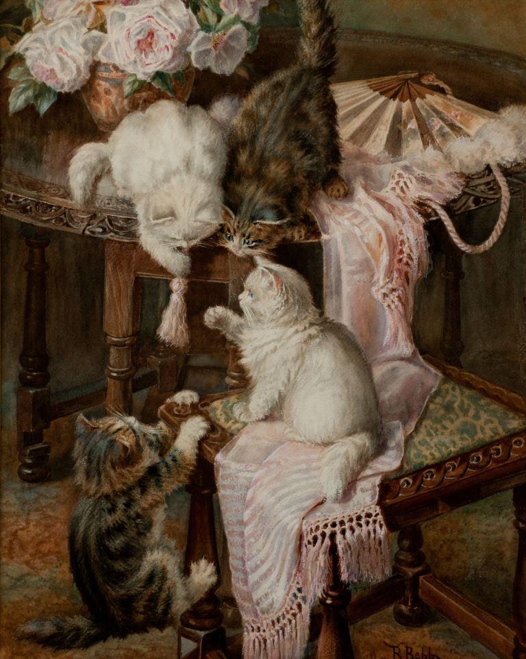 Minnie-Rosa-Bebb-watercolour-cats-kittens-antique-3426_1_3426 (1)