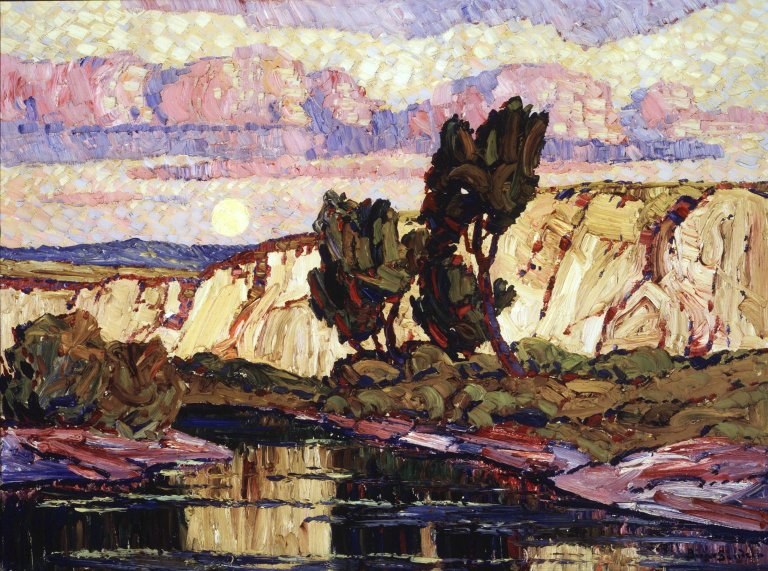 Brooklyn_Museum_-_Creek_at_Moonrise_-_Sven_Birger_Sandzén_-_overall