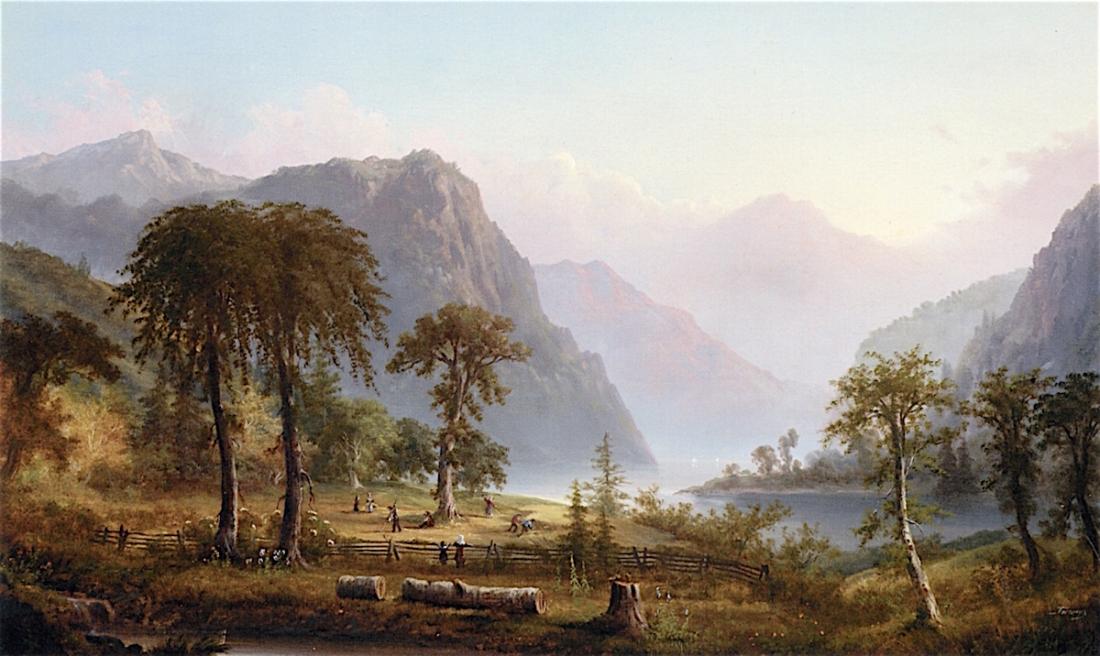 Harvesters-in-a-River-Landscape-Alexander-Francois-Loemans-oil-painting