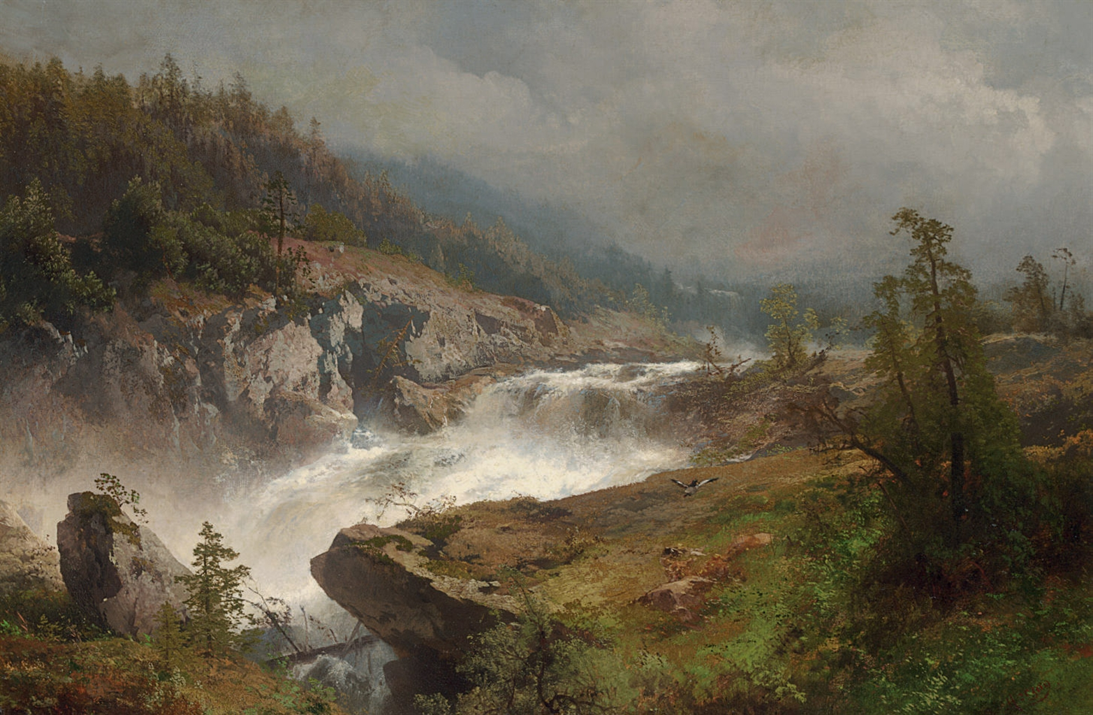 Hermann_Herzog_-_Raging_River