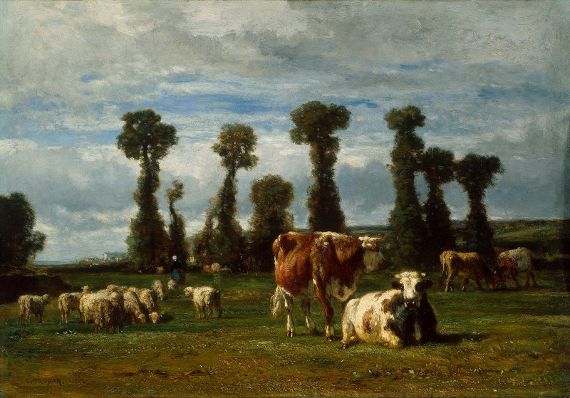 Pasture_in_Normandy_by_Constant_Troyon
